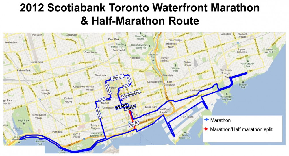 Blockbuster Course Changes to Scotiabank Toronto Waterfront Marathon