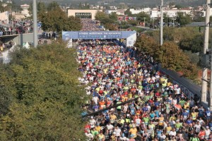 2015 Athens Marathon Start at Marathon Town