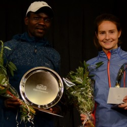 Daniel Kipkoech and Sabrina Wilkie, marathon winners