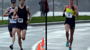 Two of Canada's top 1500-metre runners battle elements in a road 5K today
