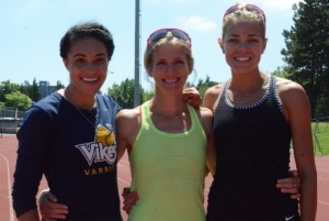 Rachel Francois, Diane Cummins and Melissa Bishop - Copyright - Athletics Illustrated