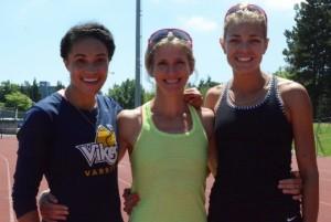 Rachel Francois, Diane Cummins and Melissa Bishop - Copyright - Athletics Illustrated