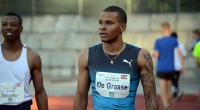 Andre De Grasse rips a wind-aided, world-leading 9.69