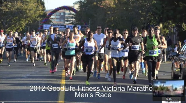 GoodLife Fitness Victoria Marathon – Lead Vehicle view