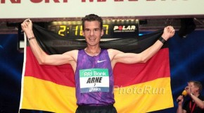 Arne Gabius breaks German record with 2:08:33, Ethiopians Sisay Lemma and Gulume Tollesa celebrate double win in Frankfurt