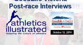 2014 GoodLife Fitness Victoria Marathon Interviews
