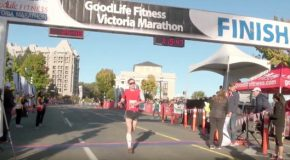GoodLife Fitness Victoria Half Marathon and 8K video: Random finishes
