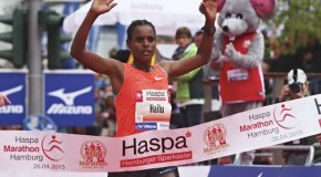 Meseret Hailu leads Haspa Marathon Hamburg, April 17th