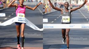 Allan Kiprono and Fate Tola win the HAJ Hannover Marathon