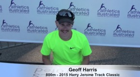 2015 Harry Jerome Track Classic: Geoff Harris Interview