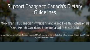 Canadian doctors want evidence based nutritional guidance for the public