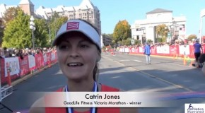 Catrin Jones Interview 2013 Goodlife Fitness Victoria Marathon