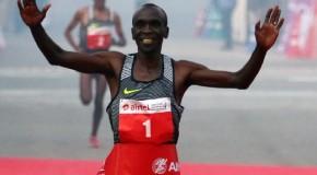Eliud Kipchoge wins 2016 Airtel Delhi Half Marathon in 59:44