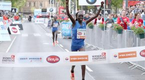Kenyans Albert Korir and Nancy Kiprop win thrilling duels