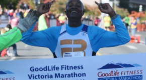 New course record at the 2013 GoodLife Fitness Victoria Marathon