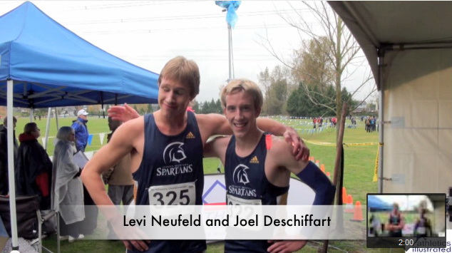 Levi Neufeld and Joel Deschiffart – Interview – BC Cross Country Championships