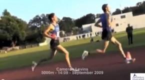 Cameron Levins – 2009 race footage – 5000m