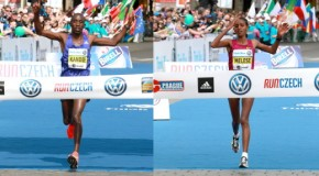 Kandie time in Prague, Melese wins women's race from Moreira
