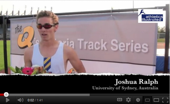Joshua Ralph – Interview – The Q's Victoria Track Series