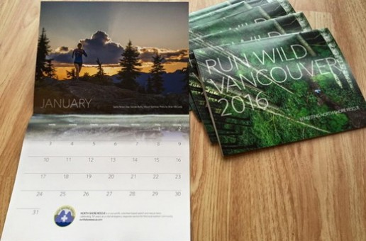 PSA: Run Wild Vancouver Aims to Top 2016 Fundraiser for Search and Rescue with  2017 Trail Running Calendar