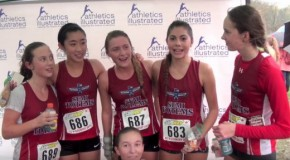 Group interviews at BC High School Cross Country Championships