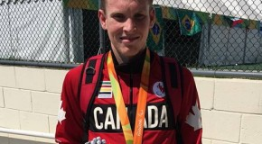 Liam Stanley wins silver medal in the 1500-metres