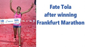 Fate Tola has good reason to be cheerful after winning German title in Mainova Frankfurt Marathon