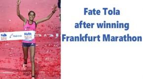 Fate Tola has good reason to be cheerful after winning German title in Mainova Frankfurt Marathon