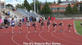The Q's Victoria Run Series – June 28th – Women's 800m Race Video