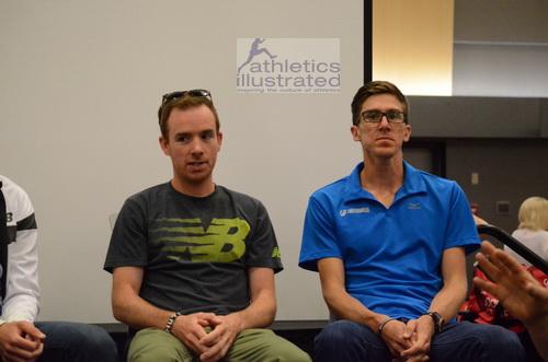 Reid Coolsaet and Dylan Wykes. Scotiabank Vancouver Half Marathon