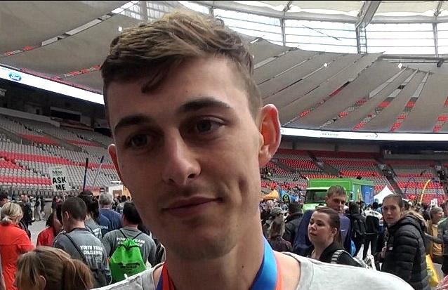Justin Kent post-race interview at 2019 Vancouver Sun Run