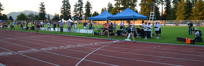 Brannen's mile finish at 2014 Harry Jerome Track Classic